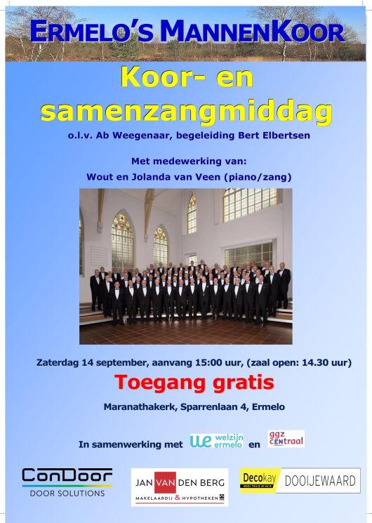 Poster koor en samenzang 2019 09 14 3